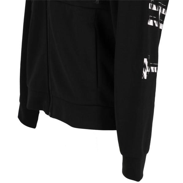 Veste Molleton Multisport Homme Capuche Zippé Adidas Mh black fz cap sweat