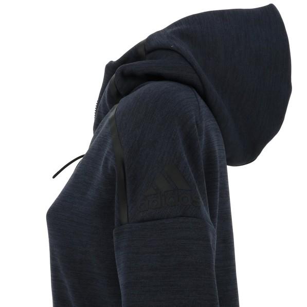 Veste Molleton Multisport Femme Capuche Zippé Adidas Zne rz cap navy l