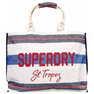 Sac Fourre-tout Superdry Amaya Rope Tote Navy / Red