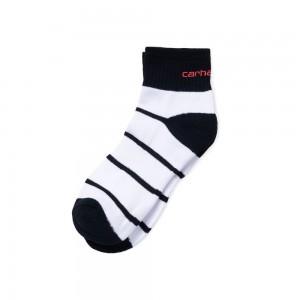 Chaussettes Carhartt Akron Socks Dark Navy / White