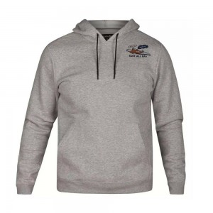 Sweat à Capuche Hurley Surf Check All Day Dark Grey