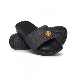 Sandales Superdry Lineman Pool Slide Black / Orange