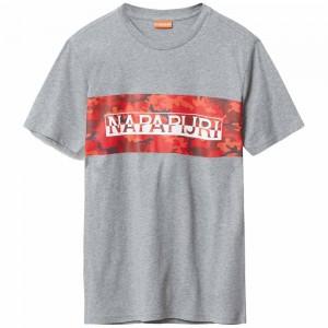 T-shirt Napapijri Salka Grey Melange