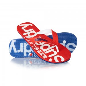 Tongs Superdry Mainline Flip Flop Clear Sole Red