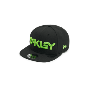 Casquette Oakley 6 Panel Hat Logo Neon Blackout