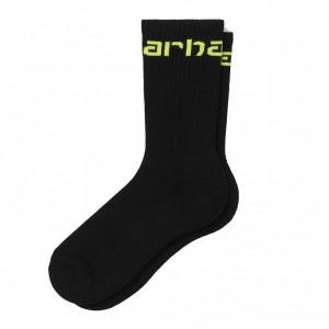 Chaussettes Carhartt Socks Black / Lime