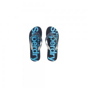 Tongs Superdry Scuba Flip Flop Navy / Fluro Blue