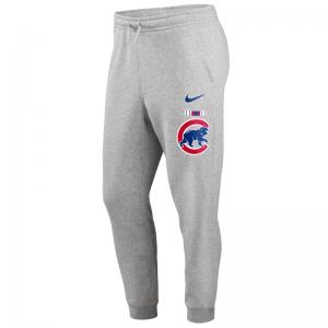 Pantalon MLB Chicago Cubs Nike Color Bar Club Fleece Gris pour homme