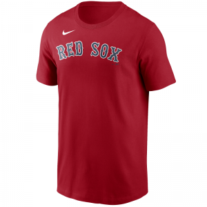 T-Shirt MLB Boston Red Sox Nike Wordmark Rouge pour Homme
