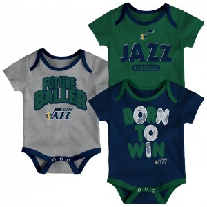 Set Baby Clothing Kid Outerstuff Inf Little Fan 3 Piece Set Utah Jazz Navy