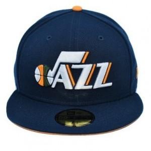Fitted Hats Men New Era Icon Jersey Hook 5950 Hat Utah Jazz Navy