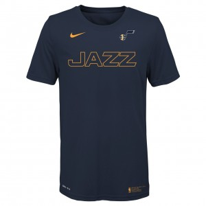 T-Shirt Kid Outerstuff Yth Facility Swoosh Tee Utah Jazz