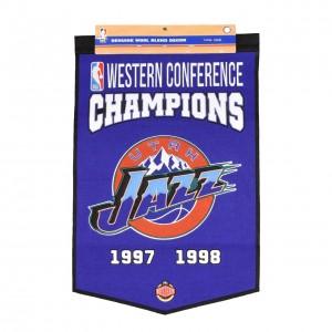 Home & Office Decor Winning Streak Western Confrence Champions Banner Utah Jazz Purple