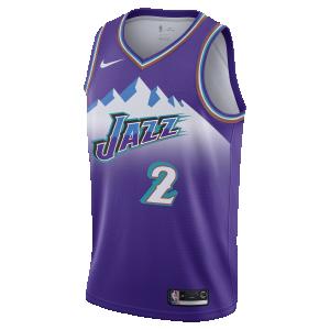 Basket-Ball Jersey Kid Nike Yth 19 Hardwood Classic Swingman Jersey Utah Jazz Joe Ingles Purple
