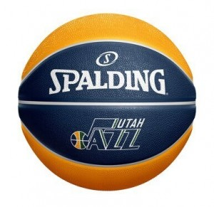 Basketball Spalding Actual JNote Custom Mini Ball Utah Jazz Navy
