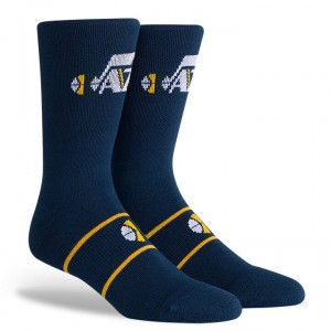 Pkwy Jersey Hook Icon Sock Utah Jazz Navy