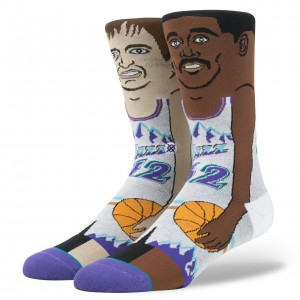 Stance Dual Player Comic Sock Utah Jazz