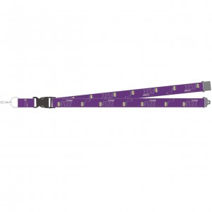 Auto Lanyards Gifts & Souvenirs Aminco Hardwood Classic Edition Lanyard Utah Jazz Purple