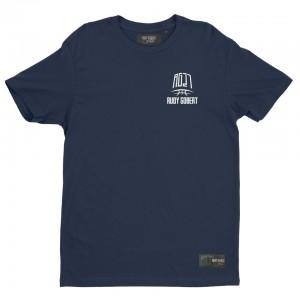 T-shirt bleu logo RG27 petit