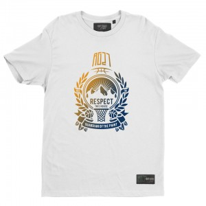 "Multicolor t-shirt ""Respect this house"""