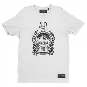 """T-shirt blanc """"Respect this house"""""""