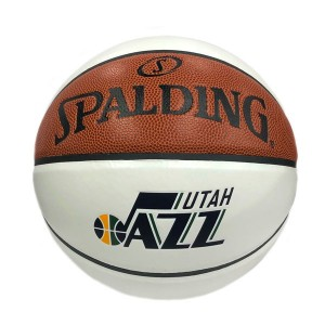 Basketball Spalding Autograph Ball Utah Jazz White