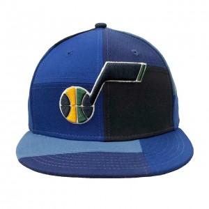 Adjustable Snapback Hat Man New Era Team Blocked 9fifty Utah Jazz Navy