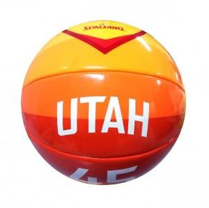 Basketball Spalding City Edition Player Jersey Mini Ball Utah Jazz Donovan Mitchell Orange
