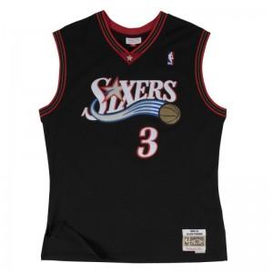 Maillot NBA swingman Allen Iverson Philadelphie Sixers Hardwood Classics Mitchell & Ness noir