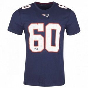 T-Shirt NFL New England Patriots New Era Number Classic Navy pour homme