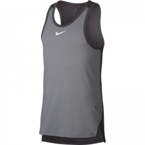 Débardeur de basketball Nike Breathe Elite gris pour homme