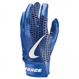 Gants de Batting Nike Force Edge Bleu pour adulte