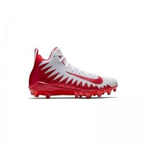 Crampons de Football Americain Nike Alpha Menace Pro Mid Rouge
