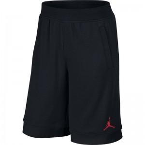 Short de Basket Jordan Fleece Noir Logo Rouge pour homme