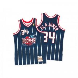 Maillot NBA Hakeem Olajuwon Houston 1996-97 Rockets Mitchell & Ness Hardwood Classic swingman Bleu Marine