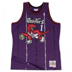 Maillot NBA Tracy Mcgrady Toronto Raptors 1998-99 Mitchell & Ness Hardwood Classic Swingman Violet