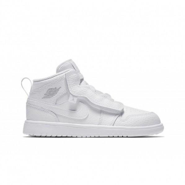 Chaussure de Basket Air Jordan 1 Mid ALT TD Blanc pour enfant