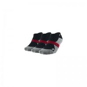Jordan 3 pack no show gris/noir