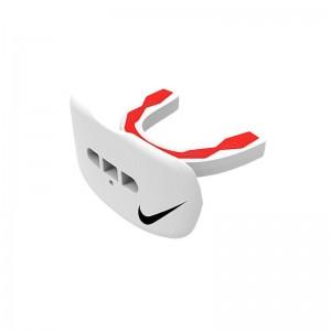 Protège dent+lèvre Nike Hyperflow Adulte Blanc avec strap et saveur Cerise