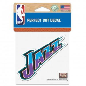 Sticker Wincraft Wordmark 1 Logo 4x4 Decal Utah Jazz