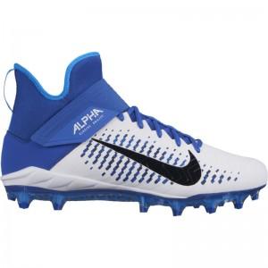 Crampons de Football Americain moulés Nike Alpha Pro Mid 2 Bleu Pour Hommes