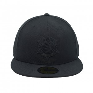 Fitted Hat Man New Era Black on Black Collection Alternate 59fifty Hat Utah Jazz Black