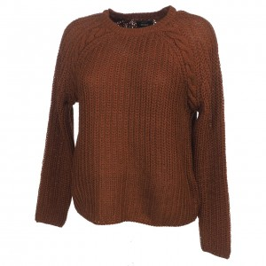 Pull-over Mode Femme Col Rond Only Ane cherry mahogany pull