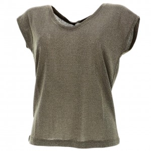 T-shirt Mode Manches Courte Femme Only Silvery kalamata mc tee l