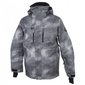 Anorak Hiver Neige Montagne Homme Quiksilver Mission printed grey jkt