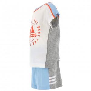 T-shirt Multisport Set Tee+short Bébé Adidas Print sum set grc/cil bb