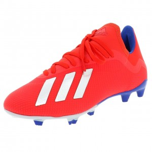 Chaussures Football Crampons Lamelles Homme Adidas X 18.3 fg rge/roy/jne