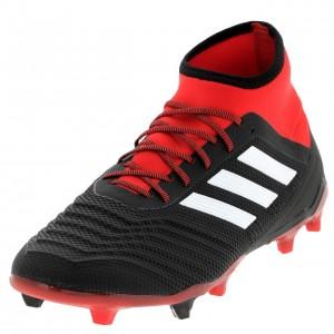 Chaussures Football Crampons Lamelles Homme Adidas Predator 18.2 fg nr/rge
