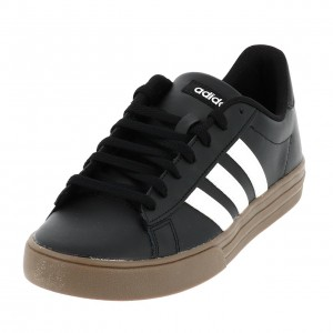 Chaussure Mode Ville Basse Homme Adidas Daily  noir blc crepe