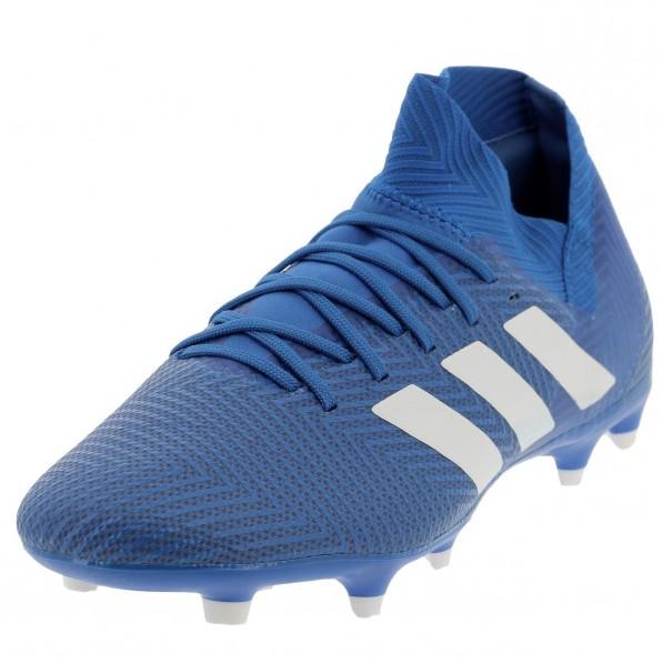 Chaussures Football Crampons Lamelles Homme Adidas Nemeziz 18.3 fg bleu homm